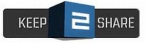 schwarzes keep2share logo auf weißem Untergrund. 2 ist in blau