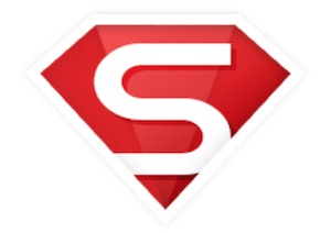 Logog von Smoozed im Superman Style und rot/weiß