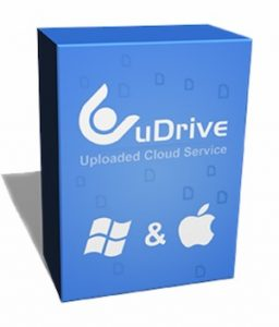 Karton von uDrive in blau