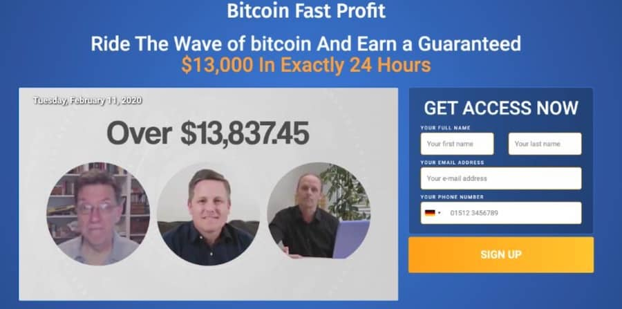 Bitcoin Fast Profit Anmeldelse